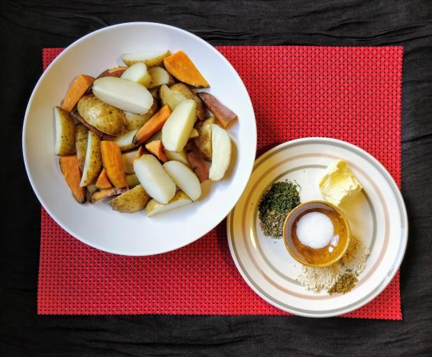 Roasted potatoes ingredients